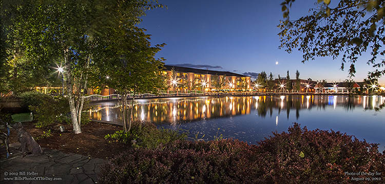 The Century Hotel and Tualatin Commons Park