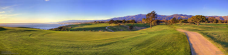 Mountain Panorama from Sandpiper Golf Course in Goleta, California