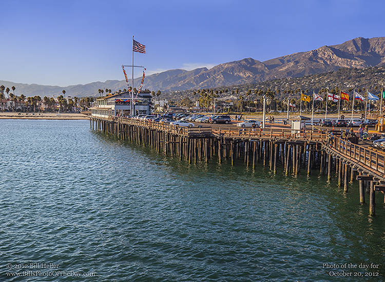 Elevated View of Stearns Wharf