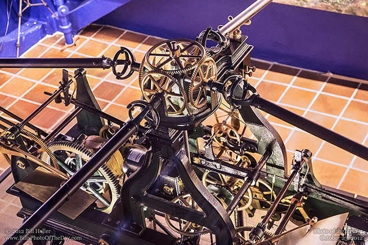 Gears and Clockwork in the Santa Barbara County Courthouse Clock Tower