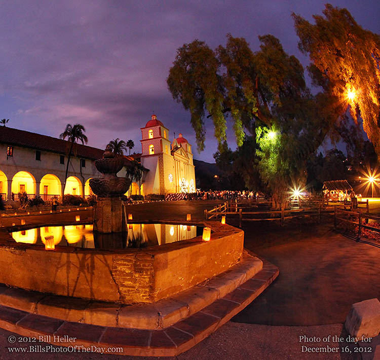 Candlelight Christmas Carols at the Santa Barbara Mission