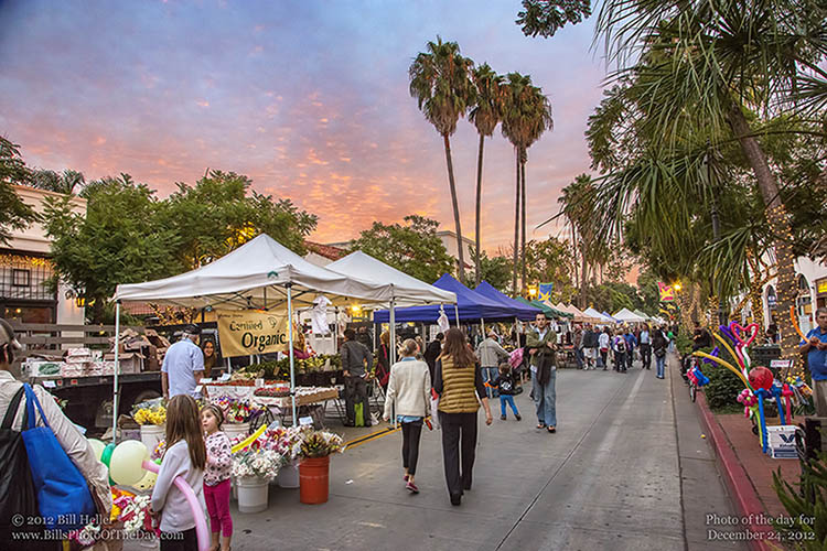 Walking on State Street at the Tuesday Farmers Market