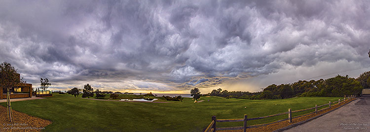 Storm clouds rolling in over Sandpiper Golf Course