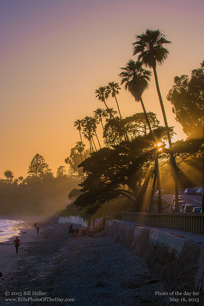 Crespicular Rays at Butterfly Beach in Montecito, CA