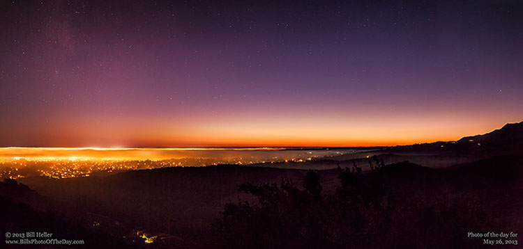 Evening Fog rolling in over Goleta, California