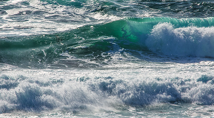 Backlit Breaker | Breaking wave at Asilomar Beach in ... Pacific Ocean Waves
