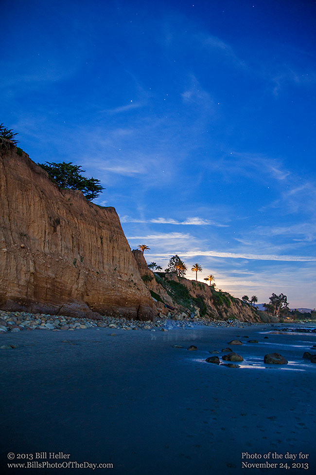 Bluff at Butterfly Beach in Montecito, California