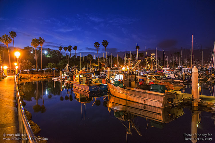 Evening at the Santa Barbara Harbor