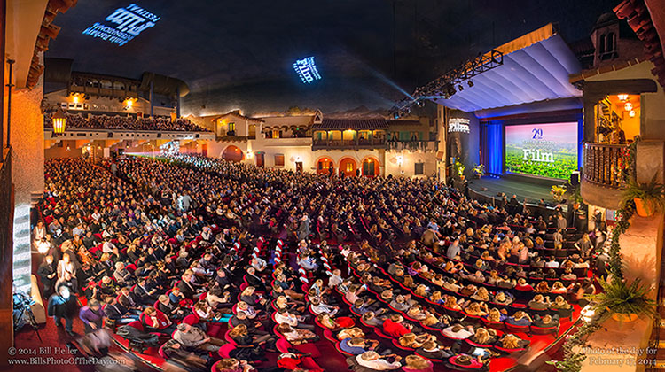Arlington Theatre sold out crowd for the Santa Barbara International Film Festival