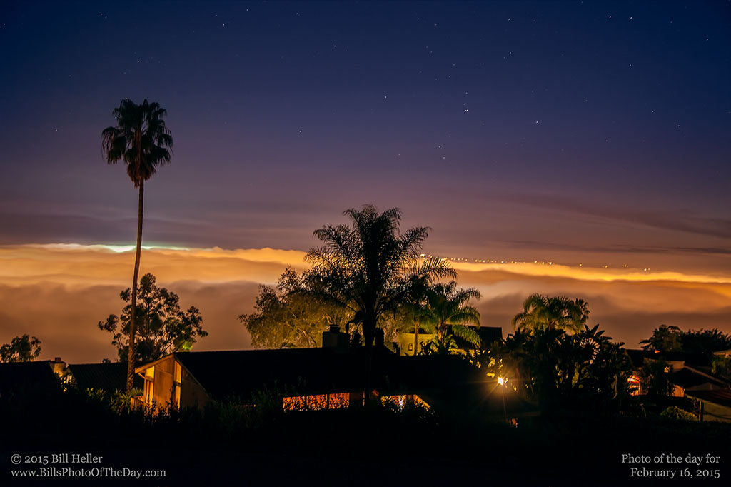Fog rolling in over Santa Barbara, California