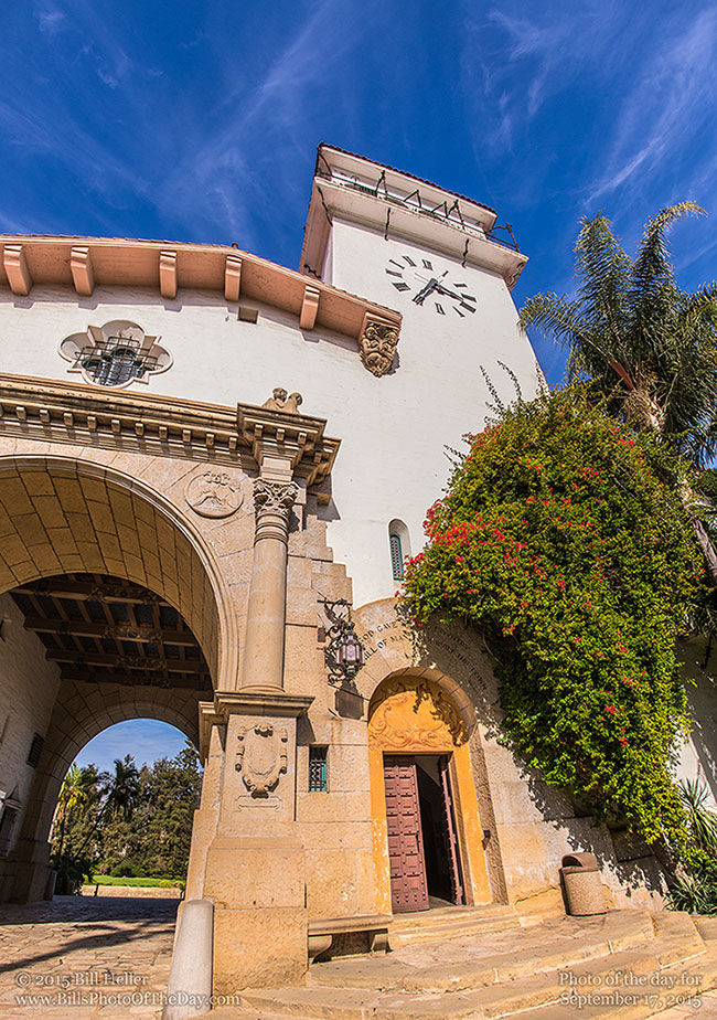 Santa Barbara County Courthouse Clocktower and Archway