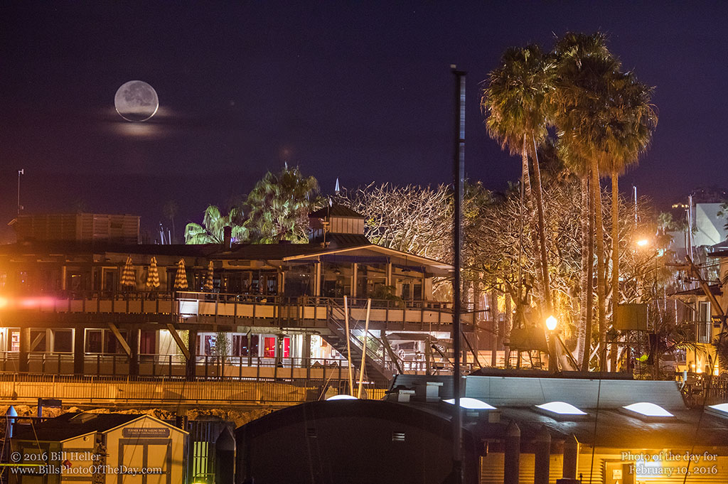 Yacht Club Moonset