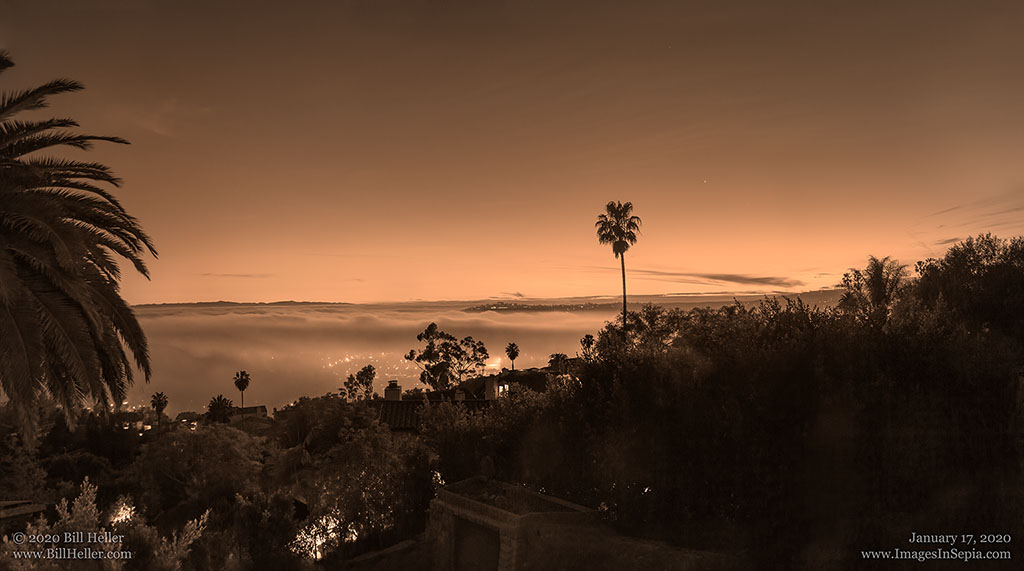 View over Santa Barbara, California